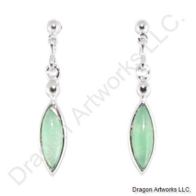 Gorgeous Light Green Jade Earrings
